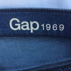 Blue jeans Gap 1969 true skinny high rise